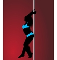 pole dancer in light blue sport clothes sexy vector image