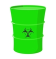 Cartoon barrel with toxic waste vector image