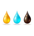 Set of multicolored drops vector image