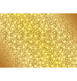 Golden Dotted Background vector image