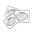 Sugar food design candy icon sweet vector image
