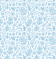 Abstract things doodle pattern vector image