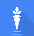 Carrot Icon Flat Design vector image
