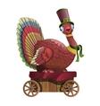 Circus bird riding in a cart vector image