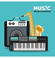 Musical instrument and sound design vector image