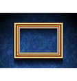 Picture Frame on Grunge Wallpaper vector image
