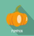 pumpkin icon flat style vector image