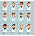 Set of doctors2 vector image