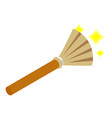 Witches broom isometric 3d icon vector image