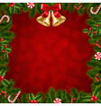xmas border fir tree branches vector image