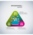 infographics app set icons vector image