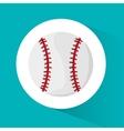 Ball of baseball sport design vector image