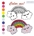 colored clouds with the sky vector image