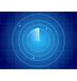 Blue radar screen vector image