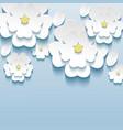 3d flowers sakura wallpaper vector image vector image