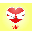 Hurt heart with Bandages Doodle - vector image vector image