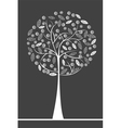 stylised tree vector image vector image