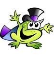 Frog Starts Entertainment vector image