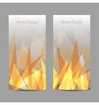 banners with abstract flame vector image