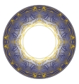 blue plate ornament vector image