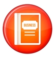 Business book icon flat style vector image