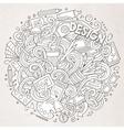 Cartoon cute doodles Design vector image
