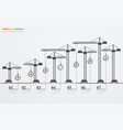 colorful road infographic timeline with icons vector image