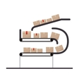 conveyor belt with sealed packages vector image