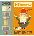 Funny Cartoon Santa Claus Boss vector image