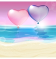 Hearts and Sea vector image