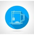 Line icon for tea cup vector image