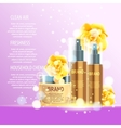 Realistic cosmetic tubes and bottles for yout vector image