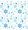 snowflakes seamless pattern winter ornament vector image