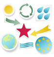 Sticky collection of abstract shapes vector image