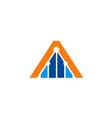triangle construction line logo vector image
