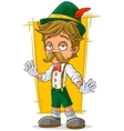 Cartoon Bavarian in hat with mustache vector image