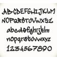 Graffiti font alphabet abc letters vector image vector image