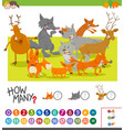 how many animals activity vector image vector image