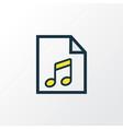 soundtrack colorful outline symbol premium vector image