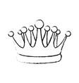 crown kindom royalty luxury icon vector image