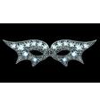 Diamond Mask vector image vector image