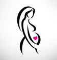 pregnant woman symbol stylized sketch vector image