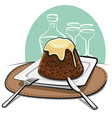 homemade pudding vector image