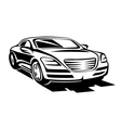 Abstract modern car vector image