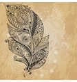 Artistically drawn stylized tribal graphic vector image