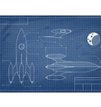 blueprint of the spaceship vector image