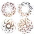 Circle lace ornament set vector image