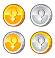 Coins with female sig vector image