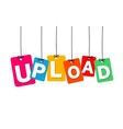 colorful hanging cardboard Tags - upload vector image