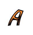 dynamic oblique letter vector image